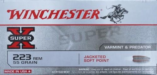 Winchester .223 Super-X JSP 55gr