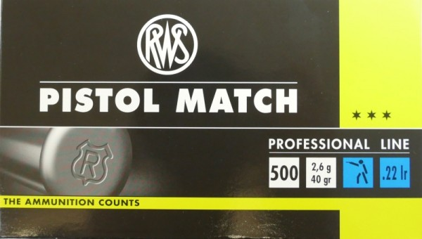 RWS .22 lr Pistol Match