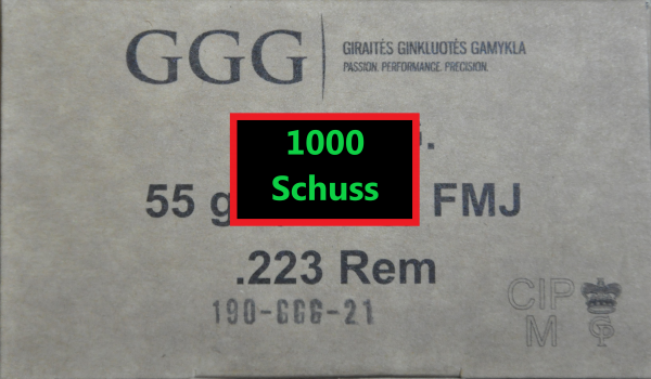 GGG .223 Rem 1000 Schuss