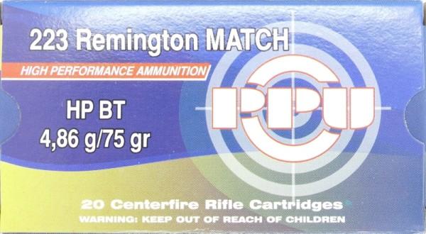 PPU .223 HPBT Match 75gr