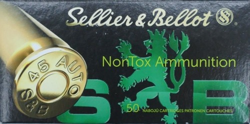Sellier & Bellot .45 ACP TFMJ NONTOX 230gr