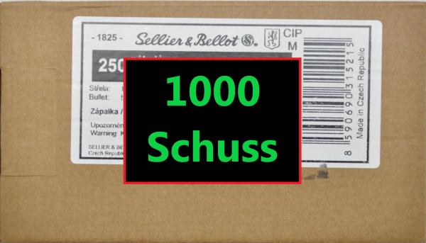 S&B FMJ 9x19 1000 Schuss