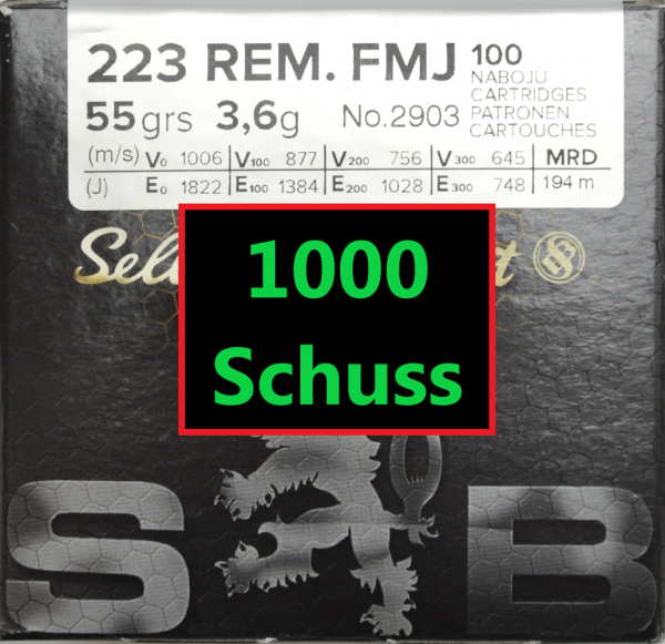 S&B FMJ .223 Rem 1000 Schuss